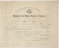 """Autographs:U.S. Presidents, Andrew Johnson Political Appointment Signed and countersigned by Treasury Secretary Hugh McCulloch. One page, 19.5"""" x 16"""", """"..."""