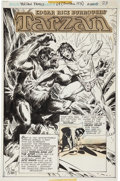 Original Comic Art:Splash Pages, Joe Kubert Tarzan Family #64 Tarzan vs. Bolgani Splash Page 1 Original Art (DC, 1976)....