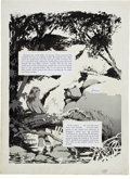 "Original Comic Art:Splash Pages, Al Williamson with Angelo Torres and Frank Frazetta CrimeIllustrated #3 ""Wanted For Murder"" Splash Page 1 Origina..."