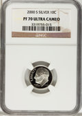 Proof Roosevelt Dimes, 2000-S 10C Silver Roosevelt Dime Set PR70 Ultra Cameo NGC. This SetIncludes: 2000-S to 2009-S Silver PR70 Ultra Cameo NGC.... (Total:10 coins)