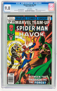 Marvel Team-Up #69 Spider-Man and Havok (Marvel, 1978) CGC NM/MT 9.8 White pages
