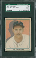 Baseball Cards:Singles (1940-1949), 1941 Play Ball Ted Williams #14 SGC 30 Good 2....