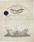 """Autographs:U.S. Presidents, Abraham Lincoln Military Appointment Signed """"AbrahamLincoln"""" and countersigned by Secretary of War Edwin Stanton.O..."""