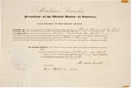 Autographs:U.S. Presidents, Abraham Lincoln Political Appointment Signed as president andcountersigned by Secretary of State William H. Seward. One pag...