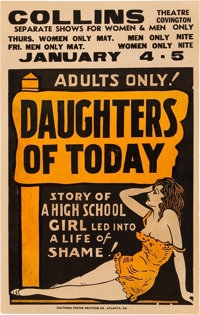 """Daughters of Today (Unknown, Early 1930s). Window Card (14"""" X 22"""")"""