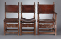Furniture , A SET OF NINE VICTORIAN OAK CHAIRS . probably England, circa 1890-1900. Unmarked. 39-1/2 x 23-3/4 x 22-1/2 inches (arm chair... (Total: 9 Items)