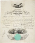"Autographs:U.S. Presidents, James Buchanan Marine Corps Appointment Signed. Onepartially-printed vellum page, 14.5"" x 18"", Washington, January 28,1861..."