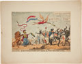 """Antique Stone Lithography, Cartoon Print: """"A Sketch of the Regent's speech onMAD-ASS-SON'S insanity"""", by George Cruikshank, pu..."""