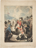"Miscellaneous:Ephemera, Pen & Ink Drawing: ""Death of Sir Ralph Abercrombie.""Illustrating the British lieutenant-general's 1801 death in abattle ne..."
