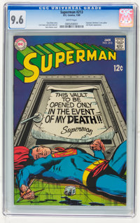 Superman #213 (DC, 1969) CGC NM+ 9.6 White pages
