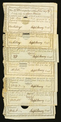 Colonial Notes:Connecticut, Connecticut Interest Certificates with Written Denominations (5) 1789-90 CT 49 and Connecticut Interest Certificates with Prin... (Total: 7 notes)