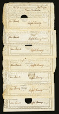 Colonial Notes:Connecticut, Connecticut Interest Certificates with Printed Denominations £2; £5(6) 1790 Anderson CT 53 and 54 Very Fine to About Uncircul...(Total: 7 notes)