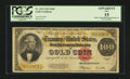 Large Size:Gold Certificates, Fr. 1215 $100 1922 Gold Certificate PCGS Apparent Fine 15....