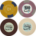 Miscellaneous:Gaming Chips, Harrah's/ Harrah's Club Reno and Lake Tahoe Chips: Four NiceExamples, Circa 1950s.... (Total: 4 Items)