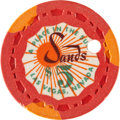 "Miscellaneous:Gaming Chips, Sands $5 Las Vegas Casino Chip, ""A Place in the Sun,"" Fourth Issue,R-10, Circa 1954...."