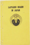 Books:Non-fiction, Yone Noguchi. Lafcadio Hearn in Japan. New York: Mitchell Kennerley, 1911. Second edition. Octavo. 177 pages. Wi...