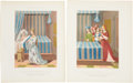 Antiques:Posters & Prints, Pair of 1858 French Chromolithograph Illustrations of AllegoricalScenes.... (Total: 2 Items)