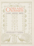 Books:First Editions, Clark Ashton Smith. Odes and Sonnets. San Francisco: TheBook Club of California, 1918....