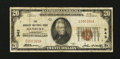 National Bank Notes:Connecticut, Danbury, CT - $20 1929 Ty. 1 The Danbury NB Ch. # 943. ...