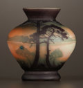 Art Glass:Muller, A FRENCH ART GLASS VASE . Muller Frères Glassworks, France, circa1910. Marks: Muller . 3-3/4 x 4 inches diameter (9.5 x...