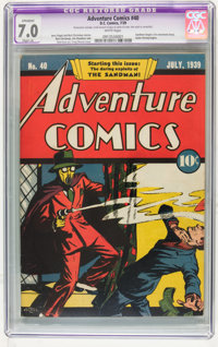 Adventure Comics #40 (DC, 1939) CGC Apparent FN/VF 7.0 Slight (A) White pages