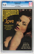 Golden Age (1938-1955):Romance, Forbidden Love #1 (Quality, 1950) CGC VF/NM 9.0 Off-white to white pages....