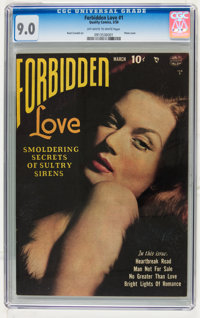 Forbidden Love #1 (Quality, 1950) CGC VF/NM 9.0 Off-white to white pages