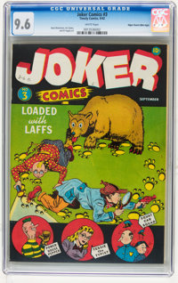 Joker Comics #3 Mile High pedigree (Timely, 1942) CGC NM+ 9.6 White pages
