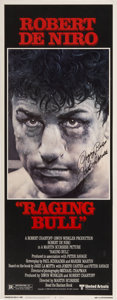 """Boxing Collectibles:Autographs, Jake LaMotta Signed """"Raging Bull"""" Movie Poster...."""