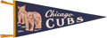 Baseball Collectibles:Others, Circa 1940's Chicago Cubs Pennant....