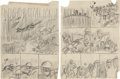 "Original Comic Art:Miscellaneous, Harvey Kurtzman Two-Fisted Tales #32 ""Lost Battalion""Preliminary Original Art Group (EC, 1952).... (Total: 5 OriginalArt)"