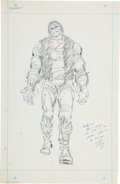 Original Comic Art:Sketches, John Romita Sr. Frankenstein Concept Sketch Original Art (Marvel, c. 1973)....