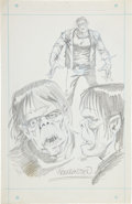 Original Comic Art:Sketches, Mike Ploog Frankenstein Concept Sketch Original Art (Marvel, c. 1973)....