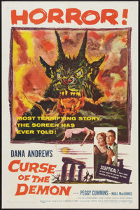 "Curse of the Demon (Columbia, 1957). One Sheet (27"" X 41""). Horror"