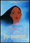"Movie Posters:Animated, Pocahontas (Buena Vista, 1995). One Sheet (27"" X 40"") SS Advance. Animated. Starring the voices of Irene Bedard, Judy Kuhn, ..."
