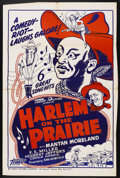 """Movie Posters:Black Films, Harlem on the Prairie (Toddy Pictures, R-1940s). One Sheet (27"""" X41""""). Black Films. ..."""
