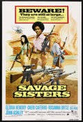 "Movie Posters:Bad Girl, Savage Sisters (American International, 1974). One Sheets (2) (27""X 41"") Style A and B. Bad Girl. ... (Total: 2 Items)"
