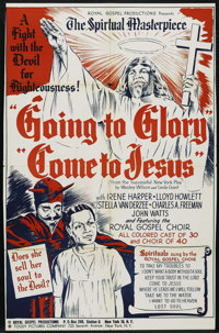 """Going to Glory, Come to Jesus (Toddy Pictures, 1946). One Sheet (26.5"""" X 41""""). Black Films. Starring Irene Har..."""