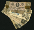 Confederate Notes:Group Lots, Confederate and Southern Obsolete Group Lot.. . . ... (Total: 12notes)