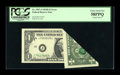 Error Notes:Foldovers, Fr. 1907-J $1 1969D Federal Reserve Note. PCGS Choice About New58PPQ.. ...