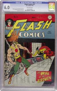 Flash Comics #71 (DC, 1946) CGC FN 6.0 Off-white pages