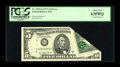 Error Notes:Foldovers, Fr. 1975-G $5 1977A Federal Reserve Note. PCGS Choice New 63PPQ.....