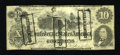 Confederate Notes:1862 Issues, CT46/344A Counterfeit $10 1862.. . ...
