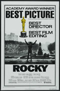 """Movie Posters:Sports, Rocky (United Artists, 1977). Academy Awards One Sheet (27"""" X 41"""") Style B. Sports. Starring Sylvester Stallone, Talia Shire..."""