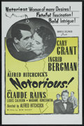 "Movie Posters:Hitchcock, Notorious (RKO, R-1960s). One Sheet (27"" X 41""). Hitchcock. ..."