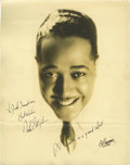 "Music Memorabilia:Autographs and Signed Items, Duke Ellington Signed Photo. A wonderful b&w 11"" x 14"" photo ofthe legendary bandleader, inscribed ""To Jack Simpson, Best W...(Total: 1 Item)"
