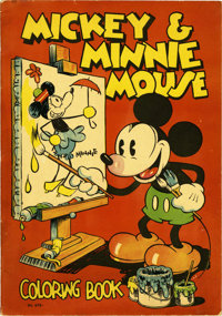 Mickey and Minnie Mouse Coloring Book #979 (Saalfield, 1933) Condition: FN