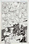Original Comic Art:Splash Pages, Kevin Maguire and Joe Rubinstein JLA Classified #6 CoverOriginal Art (DC, 2005)....