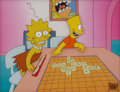 Animation Art:Production Cel, The Simpsons Bart and Lisa Animation Production Cel Set-UpOriginal Art (Fox, undated)....