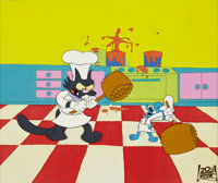 The Simpsons Itchy and Scratchy Animation Production Cel Original Art (Fox, 1992)